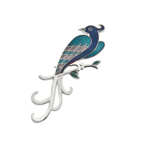 Blue Bird of Paradise Butterfly Brooch Silver Plated Brand New Gift Packaging